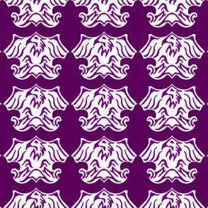 Fleur De Lis Eagle Tessellation - Purple