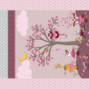 Baby Blanket Pink Danse, Quilt