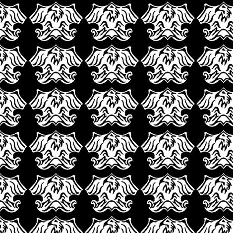 Fleur De Lis Eagle Tessellation fabric by engravogirl on Spoonflower - custom fabric