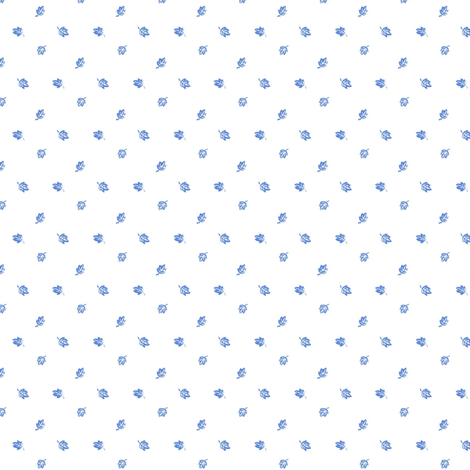 Tiny Blue Leaves - new version fabric by the_cornish_crone on Spoonflower - custom fabric