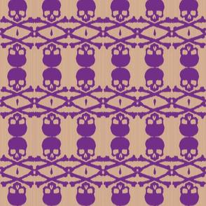 Ikat skull - purple/taupe