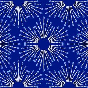 Starburst beads - blue on navy