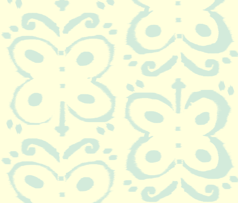 blue ikat butterfly  fabric by fable_design on Spoonflower - custom fabric