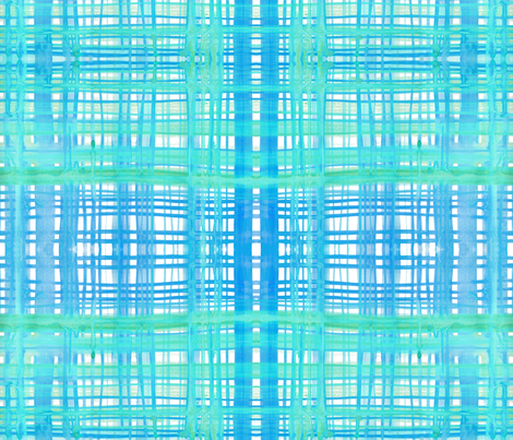 cestlaviv_madras cyan-aqua fabric by cest_la_viv on Spoonflower - custom fabric