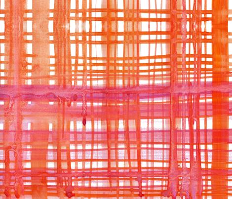 cestlaviv_madras orange pink fabric by cest_la_viv on Spoonflower - custom fabric