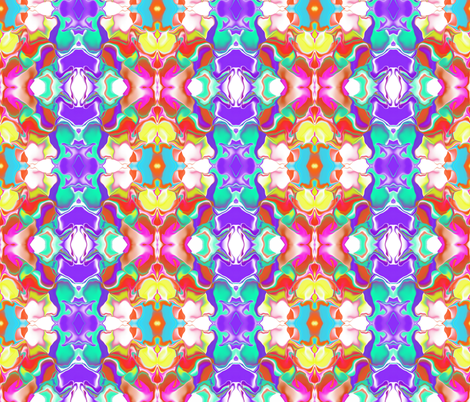 A Color Wave in a Mirror Repeat fabric by anniedeb on Spoonflower - custom fabric