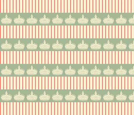 Crown___Stripe fabric by lana_gordon_rast_ on Spoonflower - custom fabric