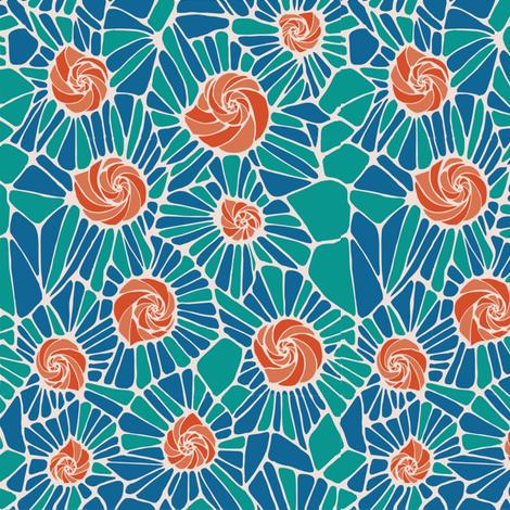 caracoles_mosaico fabric by kirpa on Spoonflower - custom fabric