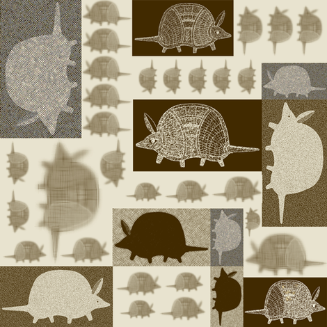 Armadillos on the Go fabric by maplewooddesignstudio on Spoonflower - custom fabric