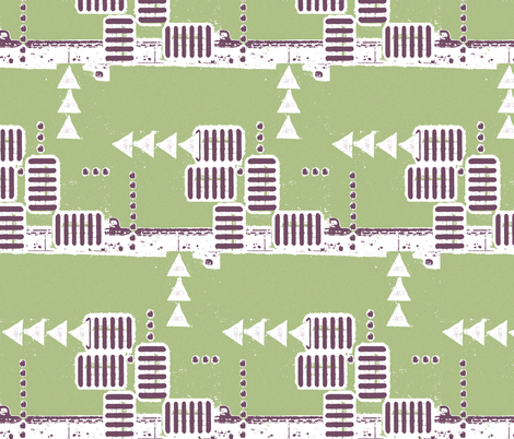 Berlin Repeat variation fabric by nalo_hopkinson on Spoonflower - custom fabric