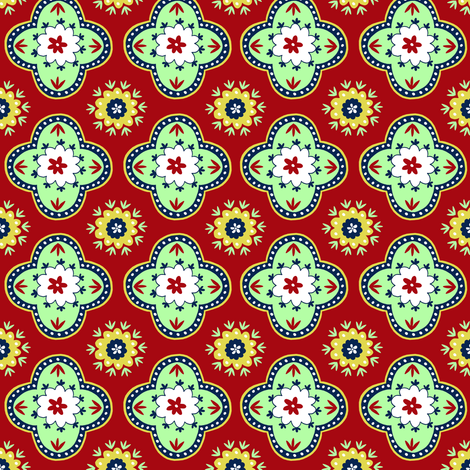 Silk Road- Pomegranate fabric by elephantandrose on Spoonflower - custom fabric