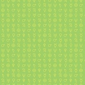 alchemy planet symbols 15-different yellow