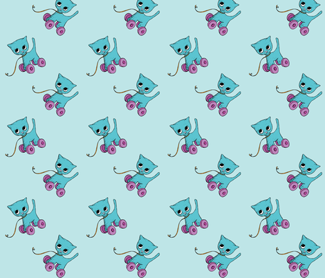 Percy the Vintage Cat fabric by miss_ella on Spoonflower - custom fabric