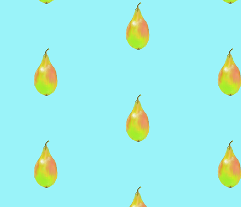 Pear on Bleu fabric by shirley_sipler on Spoonflower - custom fabric