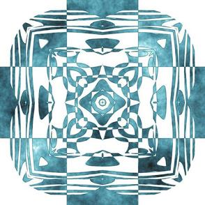 Geo Floral Teal Design, M
