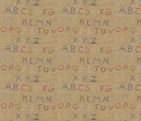 ABC ©LLausen fabric by woolyredrug on Spoonflower - custom fabric