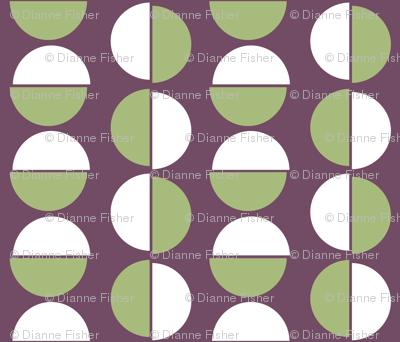 Small semi circles on purple