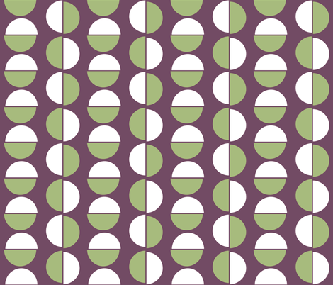 Small semi circles on purple fabric by little_fish on Spoonflower - custom fabric