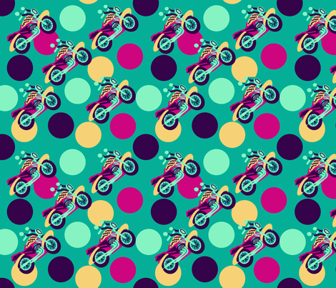 marzlene_motorcycles_2 fabric by marzlene'z_eye_candy on Spoonflower - custom fabric