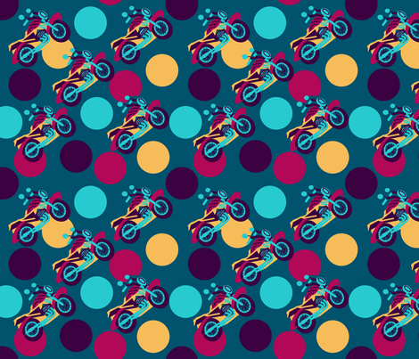 marzlene_motorcycles_3 fabric by marzlene'z_eye_candy on Spoonflower - custom fabric