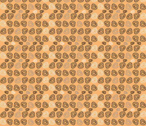 CYCLE WHEELS in orange fabric by natalie_yates_designs on Spoonflower - custom fabric