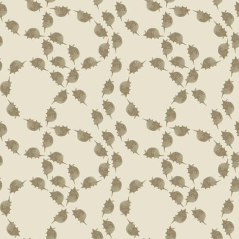 Armadillo Follow-The-Leader - Ivory fabric by maplewooddesignstudio on Spoonflower - custom fabric