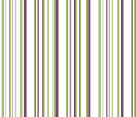 Green & Purple Stripes fabric by ruthevelyn on Spoonflower - custom fabric