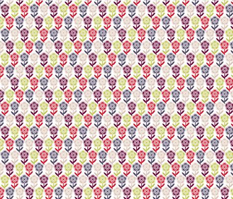 Geometric Flower - Multi fabric by gobennygo on Spoonflower - custom fabric