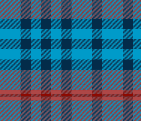 Blue and Red Plaid fabric by janelle_wooten on Spoonflower - custom fabric