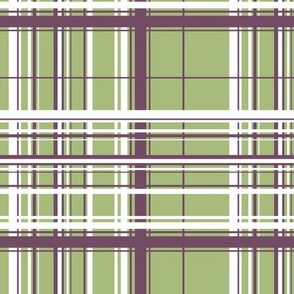 White & Purple Plaid w/ Green Background