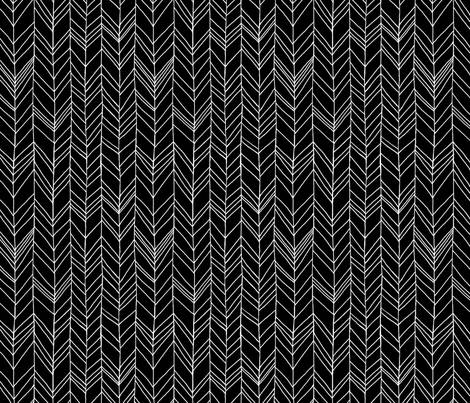 Featherland black/white fabric by leanne on Spoonflower - custom fabric