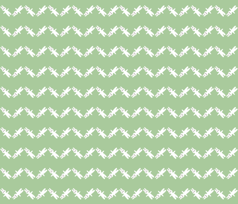 bunny chevron pastel green fabric by hugo_lamarox on Spoonflower - custom fabric