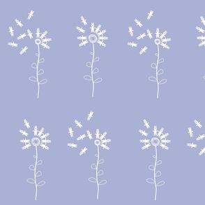 bunny dandelion pale lavender