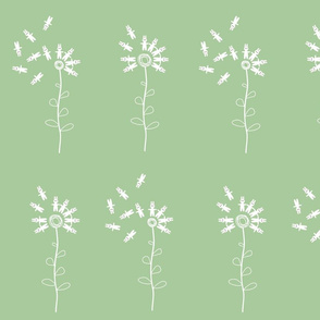 bunny dandelion pastel green