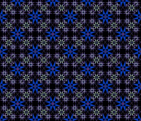 Starring bleu fabric by alfabesi on Spoonflower - custom fabric