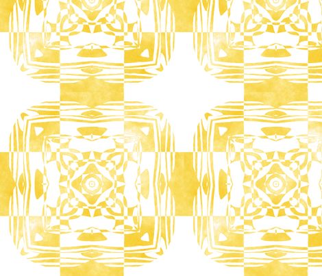 Geo Floral Golden Design, M fabric by animotaxis on Spoonflower - custom fabric