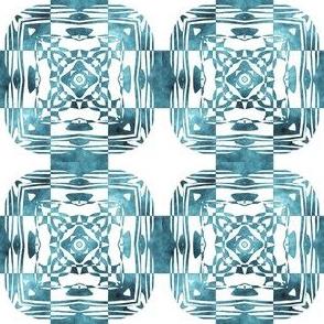 Geo Floral Teal Design, S
