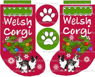 Cardigan Corgi Christmas Cut and Sew Stocking