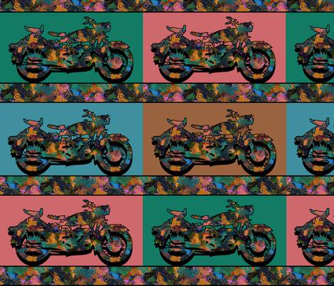 groovy motorbikes fabric by kociara on Spoonflower - custom fabric
