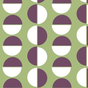 Large semi circles on green