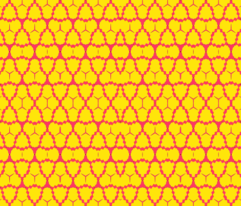 Coyote Pink and Yellow fabric by anniedeb on Spoonflower - custom fabric