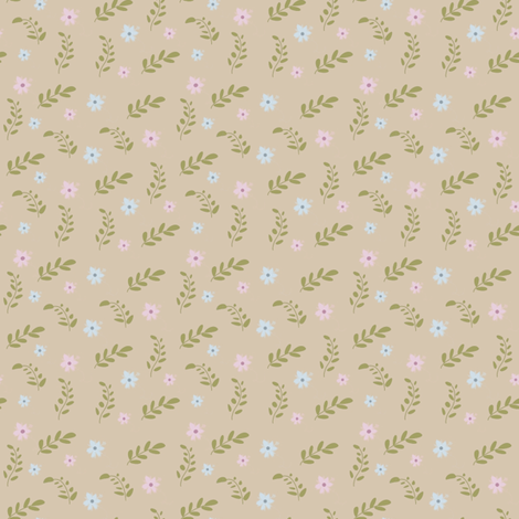 Joys of Spring (neutral) fabric by raccoons_rags on Spoonflower - custom fabric