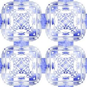 Geo Floral Blue Design, S