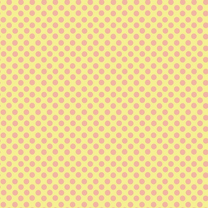 Peach Dotty on Yellow