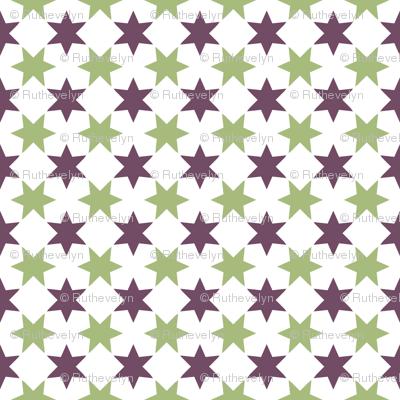 Green & Purple Stars