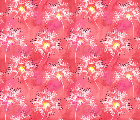 Drifting Dandelions fabric by sara_berrenson on Spoonflower - custom fabric