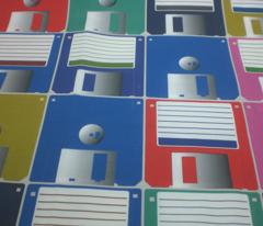 Floppy disks tiled