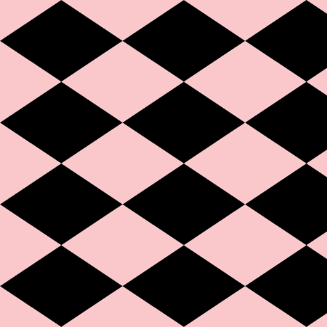 Large Harlequin Check in Pink fabric by charmcitycurios on Spoonflower - custom fabric