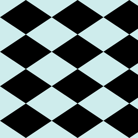 Large Harlequin Check in Mint fabric by charmcitycurios on Spoonflower - custom fabric