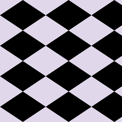 Large Harlequin Check in Lilac fabric by charmcitycurios on Spoonflower - custom fabric